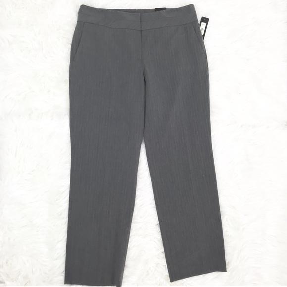 b3702eb32c4 Apt 9 Womens 16 Gray Striped Pants Trousers New